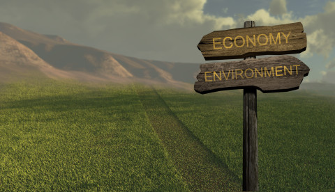 sign direction economy - environment